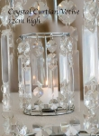 Crystal Curtian Votive 12cm high