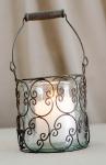 Wire lantern.