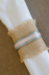 Hessian Napkin Rings with Ribbon Detail of your choice